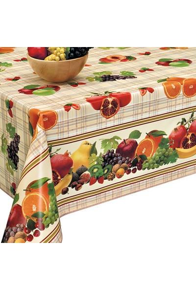 Dekorama Meyve Desenli 140X140 Kare Masa Örtüsü