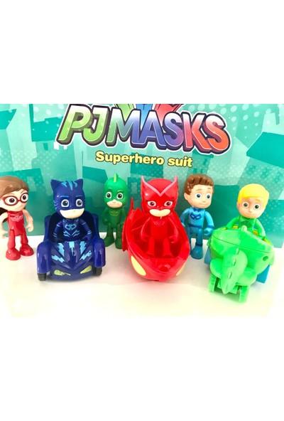 Pj Masks Pj Maskeliler Arabalı Figür Oyuncak 9 Parça Set