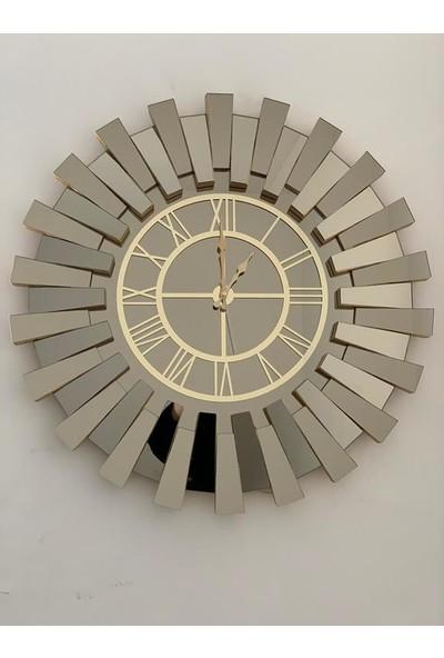 Aksesuarayna Gold Piyano Aynalı Lüx Duvar Saati