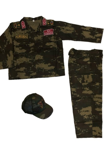Donatım Ticaret Çocuk Komando Kamuflaj Asker Kıyafeti