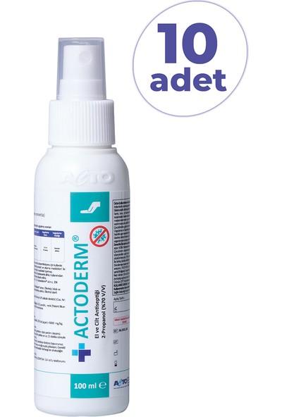 Actoderm El ve Cilt Dezenfektanı 100 ml x 10 Adet DERM10010