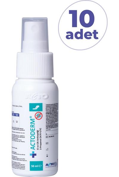 Actoderm El ve Cilt Dezenfektanı 50 ml x 10 Adet