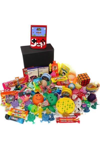 Nostaljik Lezzetler Özel Kırmızı Atarili Gıda ve Oyuncak Kutusu 1 kg