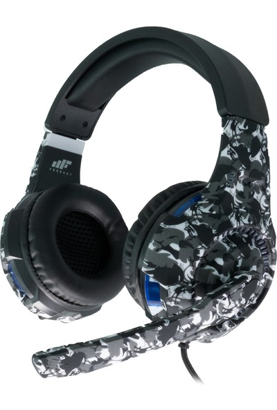 MF Product Strike 0539 Kablolu Kulak Üstü Kamuflajlı Oyuncu Kulaklığı Siyah