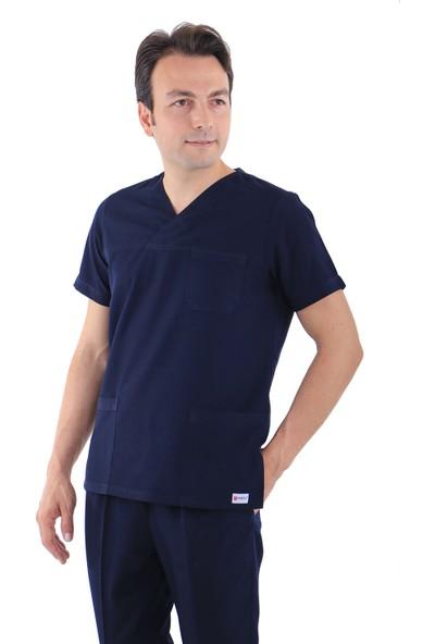 Erkek Zarf Yaka Doktor Forması Hemşire Forması Diş Hekimi Forma Veteriner Nöbet Takımı (Alpaka)