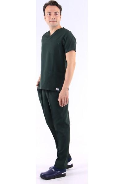 Awest Erkek Zarf Yaka Doktor Forması Hemşire Forması Diş Hekimi Forma Veteriner Nöbet Takımı