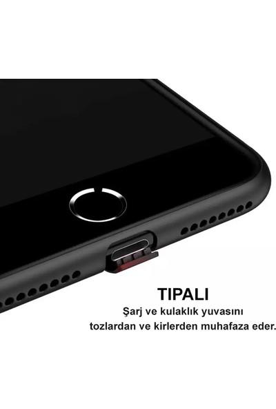 iPhone x / Xs Kılıf Ultra Ince Tıpalı Siyah Silikon