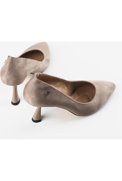 Gökhan Talay Vizon Süet Kadın Topuklu Ayakkabı