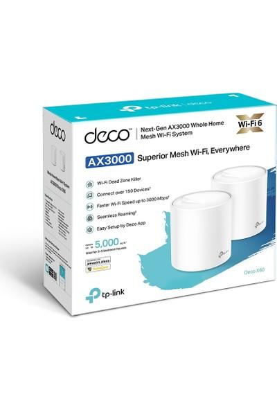 TP-Link Deco X60 AX 3000 Mbps Tüm Ev Mesh Wi-Fi 6 Sistemi ( 2'lü Paket )