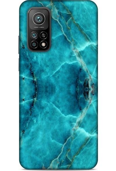 Lopard Mermer Desenli (13) Tema Silikon Kap Turkuaz Xiaomi Mi 10T Pro 5G Kılıf