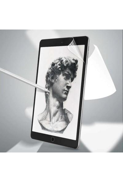 Ceplab Samsung Galaxy S6 Lite P610-P615-P617 Kılıf Kalem Bölmeli Kılıf Üçgen Smart Case+Paper-Like Çizim Için Kağıt Hissi Ekran Koruyucu Kırmızı