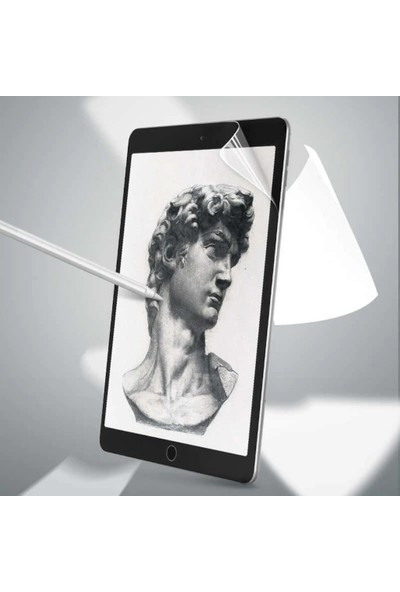 Ceplab Samsung Galaxy Tab S6 Lite P610 Kılıf Kalem Bölmeli Silikon Smart Cover+Paper-Like Çizim Için Ekran Koruyucu Rose Gold