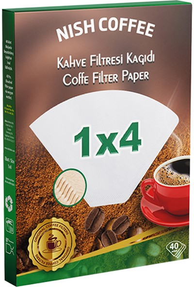Filtre Kahve Kağıdı 1X4 40 Adet
