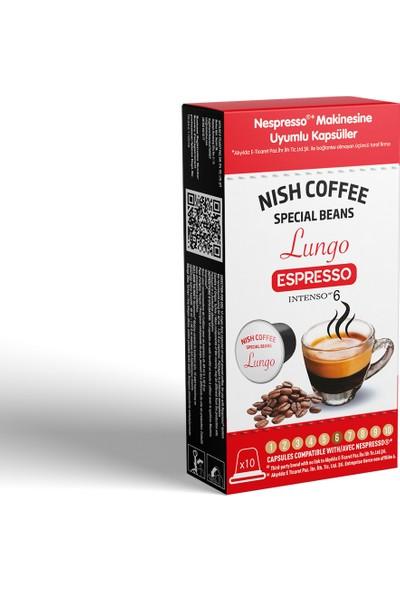 Nish Nesspresso Uyumlu Kapsül Kahve 6 Lungo 10'lu