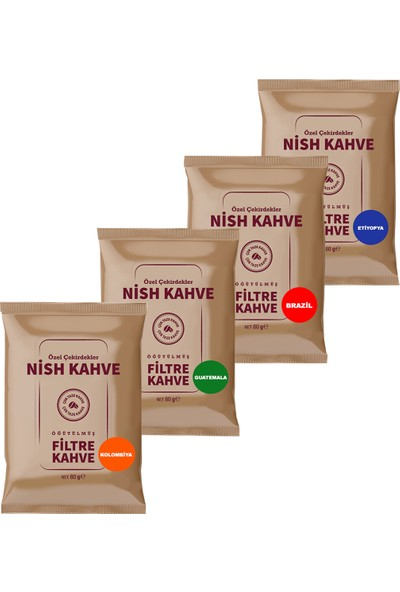 Nish Filtre Kahve Tadım Seti80 grx4