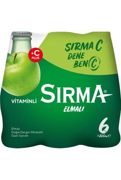 Sırma C+ Elma Aromalı Maden Suyu 6x200 ml