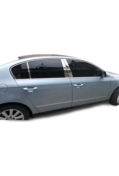 Blue Volkswagen Passat B6 Krom Cam Direği 6 Parça 2005 - 2010 Paslanmaz Çelik
