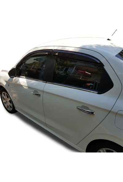 Blue Peugeot 301 ( 2012-2020 ) Paslanmaz Krom Cam Çıtası 4 Parça Blueoto