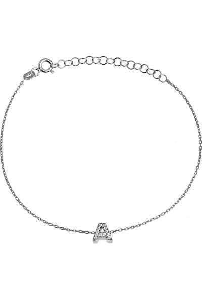 Argentum Concept Gümüş A Harfi Bileklik B066401