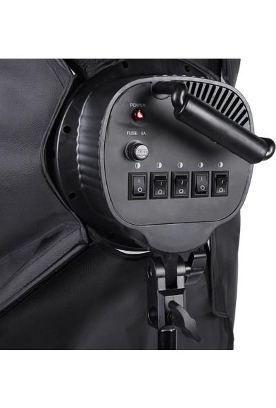 Sara 50X70CM 5 Duylu Softbox Sürekli Işık Ikili Set 2m Işık Ayak Stand