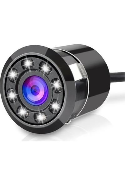 Araç Geri Kamerası Hd 8 LED Gece Görüş Geniş Açı Su Geçirmez