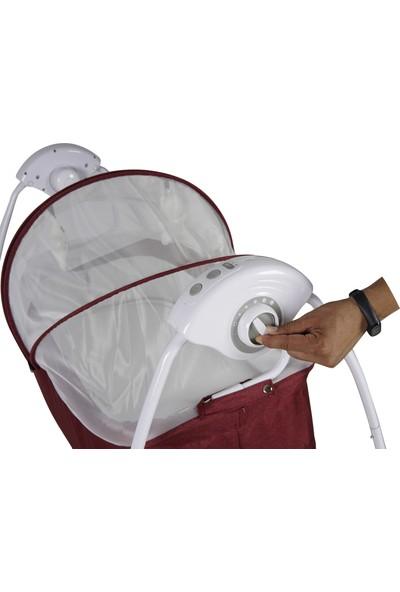 Sunny Baby Yeni Caretta 2 Elektrikli Otomatik Sallanır Beşik Bordo