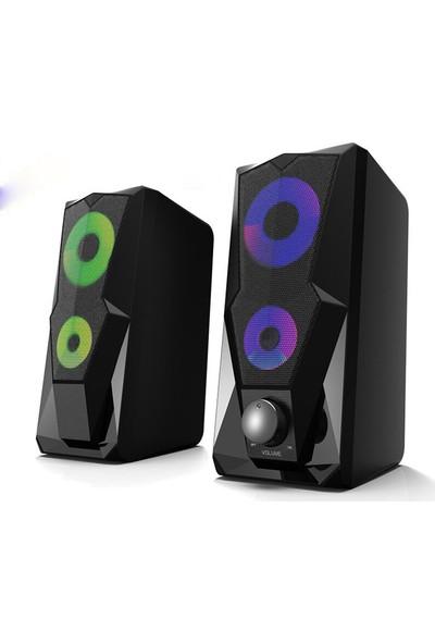 Kerasus KR-1002 Rocket 1+1 LED Işık Efektli Oyuncu Hoparlörü Speaker