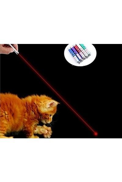 Burdabuldu Metal Fener Kedi Oyuncak Lazeri 3 Aşamalı