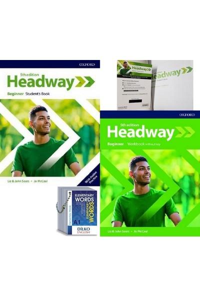 Headway 5th Edition Beginner Kodlu Set & Elementary Words (Kelime Kartı A1)