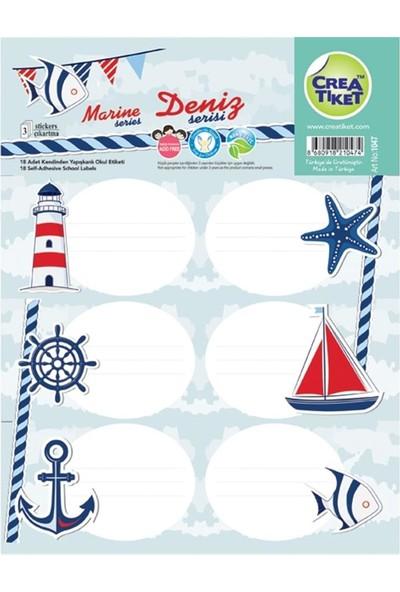 Crea Ticket Marine Deniz Serisi Okul Etiketi