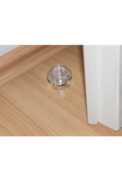Azm Hırdavat Metali Şeffaf Yer Tamponu Kapı Stoperi 3 cm