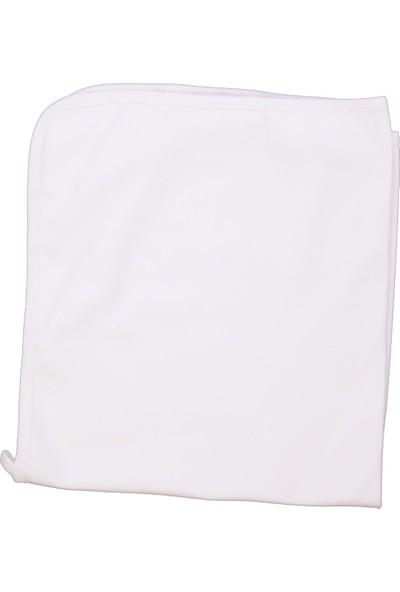 BebeMekan Nakışsız Sade Penye Battaniye 80 x 90 cm - Ekru