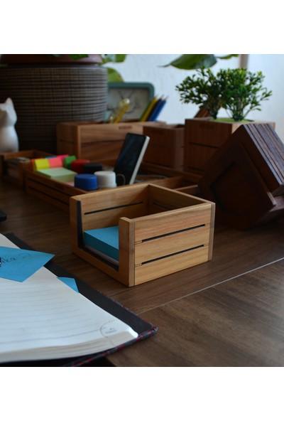 Woodsaka 3line Not Kağıdı Kutusu - Kiraz Ağacından
