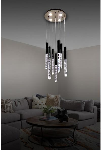 Luna Lighting Modern Luxury Sarkıt 7+4 LED Ledli Avize