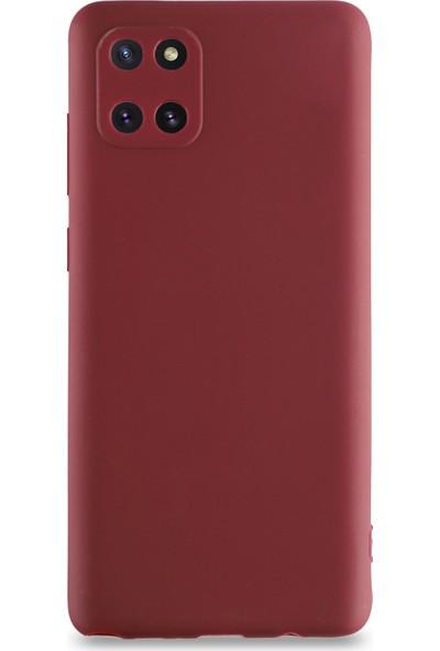 Kılıf Mania Samsung Galaxy Note 10 Lite Kılıf Kamera Korumalı Premier Silikon Kapak - Mürdüm