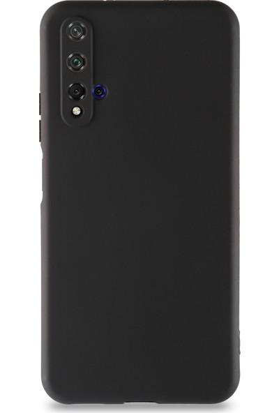 Kılıf Mania Huawei Nova 5t Kılıf Kamera Korumalı Premier Silikon Kapak - Siyah