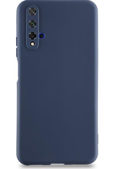 Kılıf Mania Huawei Nova 5t Kılıf Kamera Korumalı Premier Silikon Kapak - Lacivert