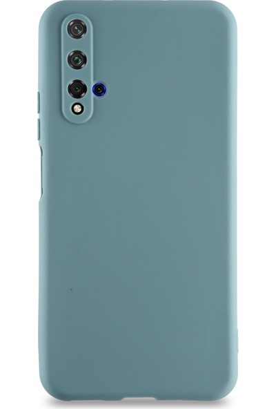 Kılıf Mania Huawei Nova 5t Kılıf Kamera Korumalı Premier Silikon Kapak - Petrol Mavisi