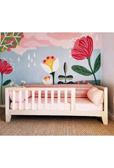 Köşk Mobilya Montessori Yatak Çatısız Kalın Ayaklı Model