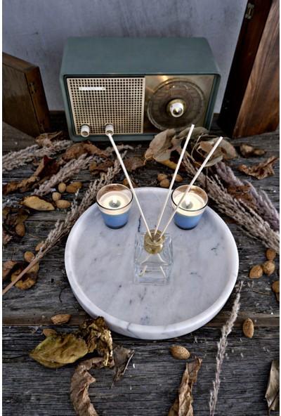 Voodo Concept Milas Pearl Mermer Sunum Tepsi - 30 cm Çap