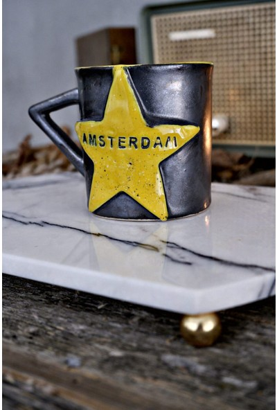 Voodo Concept Amsterdam City El Yapımı Seramik Kahve Fincanı