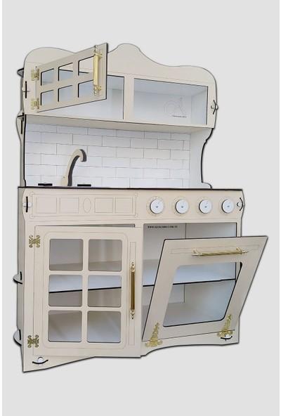 Alfagama Ahşap Oyuncak Mutfak ve Dolap Seti - 120 cm