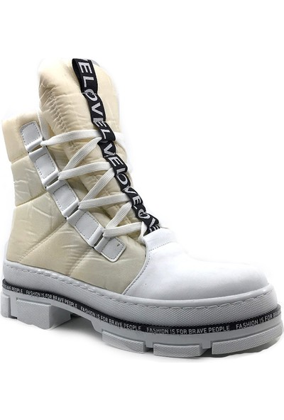 Scarletta 105 Beyaz Kışlık Bayan Kar Botu