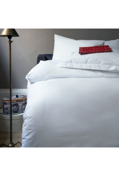 Issimo Home White Series Ranforce King Otel Nevresim