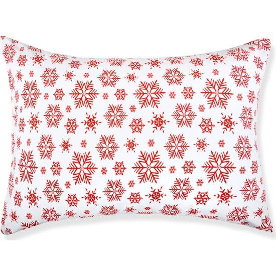 Açelya Home Kar Tane Desenli Yastık Kılıfı 2 Adet 50X70