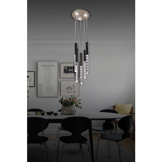 Luna Lighting Modern Luxury Sarkıt 5+3 LED Ledli Avize