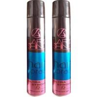 Lara Shine Hair Spray-Saç Spreyi-Ultra Güçlü 2x400 ml