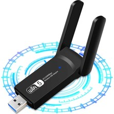 Shuzi AC1200 Mbps Dual Band USB 3.0 Adaptör Kablosuz Wifi Alıcı