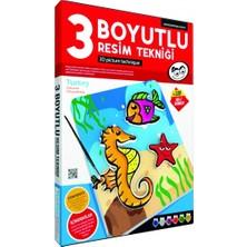 Kumtoys Taş Boyama + 3 Boyutlu Resim Tekniği + Cam Vitray + Pul Sanatı (4'lü Set)