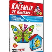 Kumtoys Kodlama+Deney Seti + Taş Boyama + Ahşap Kalemlik ve Kumbara (4'lü Set)